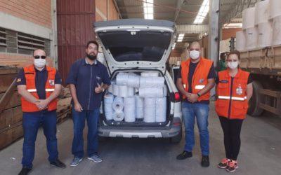 Doações para a FAS Assistência Social para os desabrigados nos Pavilões da Festa da Uva.